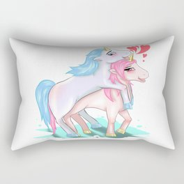 Unicorns Making Love Sex Fucking Mating Horny Gift Rectangular Pillow
