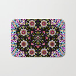 decorative ornate candy with soft candle light for peace Bath Mat