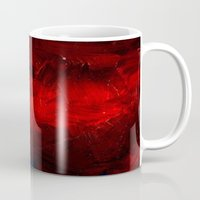 duvet cover Mugs featuring Red Duvet Cover by Corbin Henry