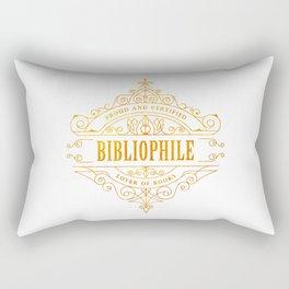 Gold Bibliophile Rectangular Pillow