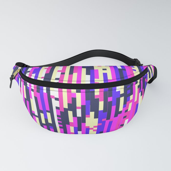Girlie Glitch - Digital Glitch Art Fanny Pack