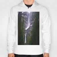 yosemite Hoodies featuring Yosemite Waterfall by RENA16