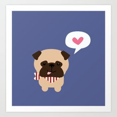 Pancho the Pug Art Print