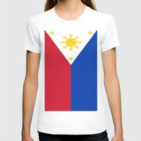 philippines T-shirts featuring Flag of the Philippines by Neville Hawkins