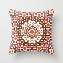 N64 - Traditional Geometric Moroccan Vintage Style Artwork Throw Pillow