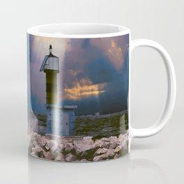 Light House in storm Coffee Mug