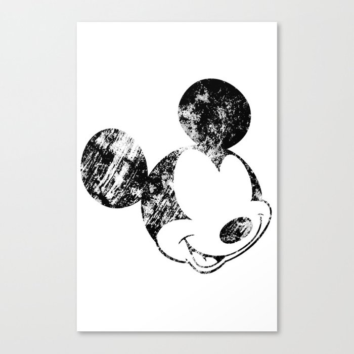Mickey Grunge Canvas Print