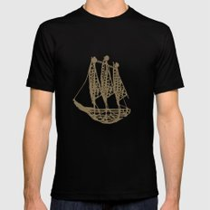 Cape Glass (brown) MEDIUM Black Mens Fitted Tee