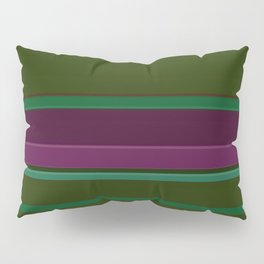 Stripes ,  dark green Pillow Sham