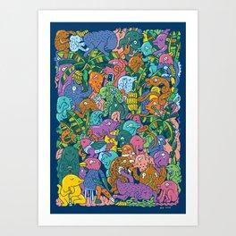Banana forest Art Print