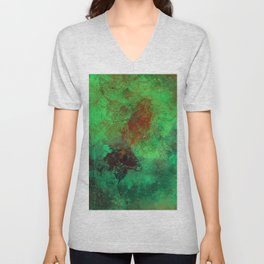 Isolation - Abstract, textured painting Unisex V-Neck