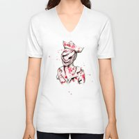 silent hill V-neck T-shirts featuring Silent Nurse by Ludwig Van Bacon