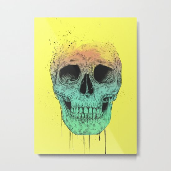 Pop art skull Metal Print