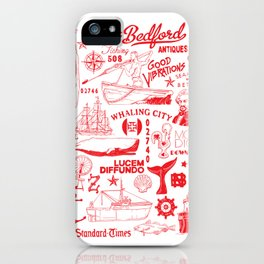New Bedford Massachusetts Print iPhone Case