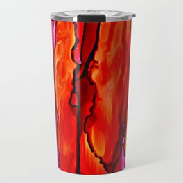 Reverie in Red Yellow and Violet Travel Mug