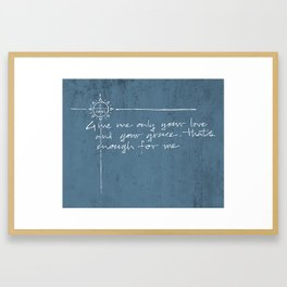 Give me your love and grace. Jesuit illustration Framed Art Print