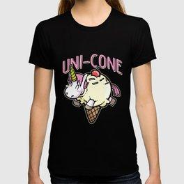 Uni-Cone unicorn ice cream rainbow cutie T-shirt