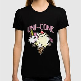 Uni-Cone unicorn ice cream rainbow cutie T-shirt