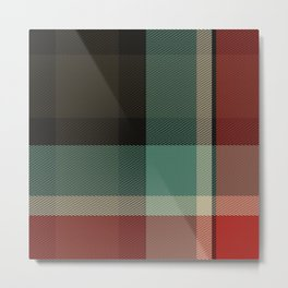 Christmas Plaid 8A Metal Print