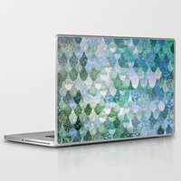 little mermaid Laptop & iPad Skins featuring REALLY MERMAID by Monika Strigel