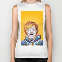 ed sheeran Biker Tanks featuring Ed Sheeran by Jack