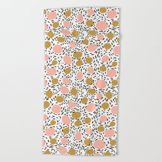 Pebbles cute pattern gender neutral dorm college abstract design minimal modern earth nature Beach Towel