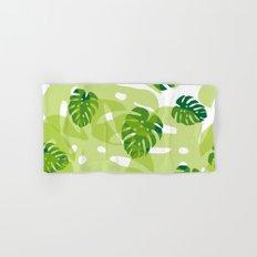 green monstera jungle Hand & Bath Towel