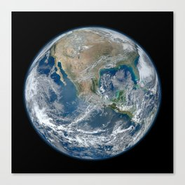 Planet Earth from Above Canvas Print