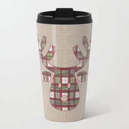 Plaid Reindeer Travel Mug