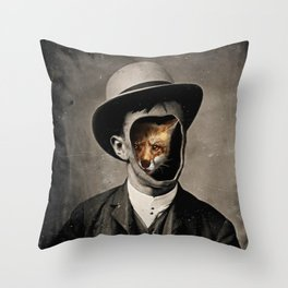 Gentleman Fox Throw Pillow