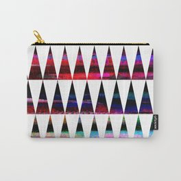 happy colored triangles Carry-All Pouch