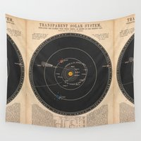 solar system Wall Tapestries featuring Solar System by Le petit Archiviste