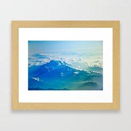 Aerial Mountain Framed Art Print