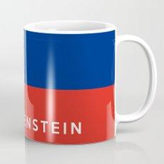 Liechtenstein country flag name text Mug