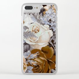 wintery floral Clear iPhone Case