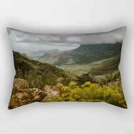 Vibrant Mountain Range Landscape, Big Bend Rectangular Pillow