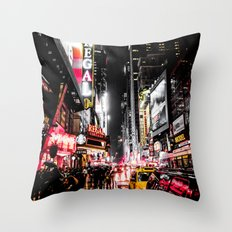 New York City Night II Throw Pillow