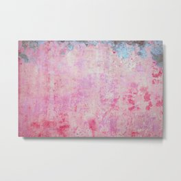 abstract vintage wall texture - pink retro style background Metal Print