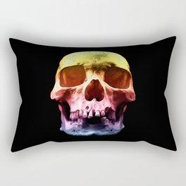 Pop Art Skull Face Rectangular Pillow