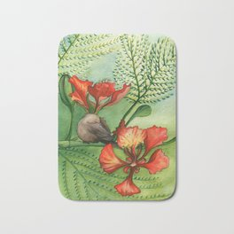 Sleeping Bird Bath Mat