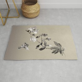Magnolia And Two Sparrows Rug