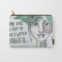Make the World Beautiful Carry-All Pouch