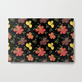 flor fondo negro1 Metal Print