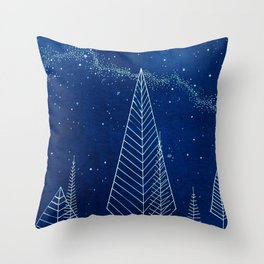 Celestial Trees Throw Pillow