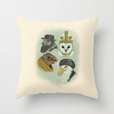 Birds of Pray Throw Pillow