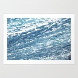Ocean Water Waves Foam Texture Art Print