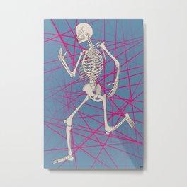 Jogging Skeleton Metal Print