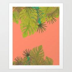 Tropical leaves 02 Art Print