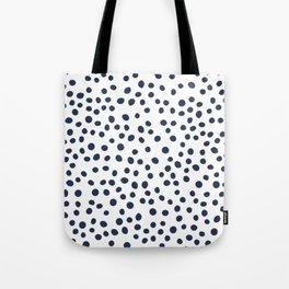 Dark blue vector doodle circle dot Tote Bag