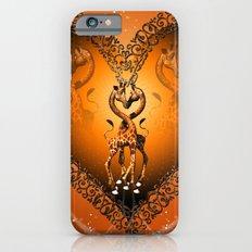 Cute giraffe couple iPhone 6s Slim Case
